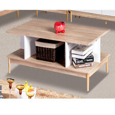 Style Home MESITA BAJA Mesa Sofá de salón abierto madera blanco sh47m15035-wie