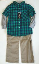 Swiss Cross Toddler Boys 2pc Shirt Ls Wvn Twill Pant Set Size 5 Msrp40$