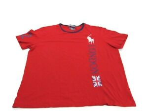 Polo Ralph Lauren T-Shirt Red 2012 London US Olympic Team Short Sleeve Mens XL