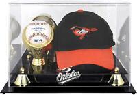 Baltimore Orioles Acrylic Cap and Baseball Logo Display Case - Fanatics