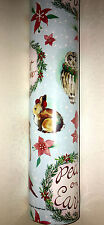 """Punch Studio PEACE ON EARTH CHRISTMAS WRAPPING PAPER.  NWT. 30""""X 10 Feet."""