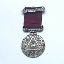 Rare Médaille Franc Maçon Maçonnique Argent 1904 Silver Masonic Métal