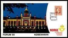 NORWEGEN NORWAY EXHIBITION CARD 1988 DENMARK KOBENHAVEN FORUM KOPPENHAGEN ds82