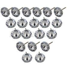 20 Pcs Diamond Crystal Upholstery Nails Tacks Sofa Headboard Sew Buttons