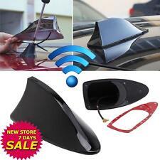 Black Universal Auto Car Roof Radio AM/FM Signal Shark Fin Aerial Antenna  WT