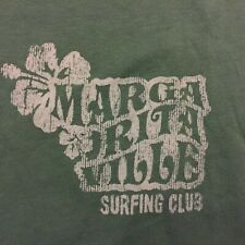 Margaritaville Surfing Club T-Shirt Large Green NEW NWT $32 MSRP