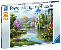 JIGSAW PUZZLES 500 PIECES ROMANTIC POND VIEW RAVENSBURGER SEALED BRAND NEW