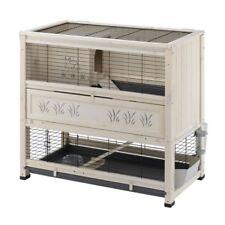 Wooden Indoor Rabbit Hutch Home Extra Deep Bottom Tray Seperate Sleeping Den