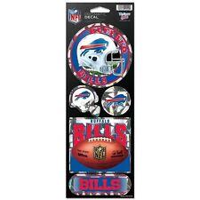 BUFFALO BILLS PRISMATIC HOLOGRAPH STICKER DECAL SHEET OF 5 NFL FOOTBALL