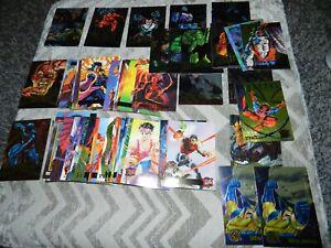 LOT 91: 90's MARVEL CARDS SPIDER MAN DEAD POOL + including 21 FLEER 1995 METAL