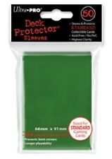 Ultra Pro 50 Pouches Deck Protector Sleeves Green Cards Format Standard 826710
