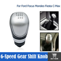 6 Speed Gear Stick Shift Lever Knob For Ford Focus Mondeo Fiesta C-Max Transit