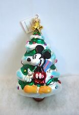 Christopher Radko Ornament 1997 Disney Mickey & Minnie Christmas NIB/SEALED R25