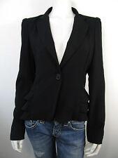 Maison Espin Jacket Jacke Blazer Sakko Vest Schwarz Neu XL