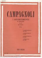 Campagnoli: 7 Vergnügungen Oder Sonate Op. 18 Für Violine - Erinnerungen