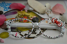 New Hello Kitty Bling Bowknot Glasses frame ball-point pen