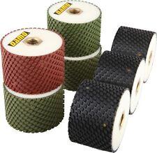 "3"" Wet Diamond Polishing Drum Wheels Set of 7 for Granite/Concrete Sink Cutouts"