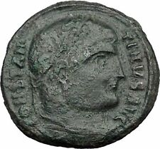 Constantine I the Great 326AD Ancient Roman Coin Military camp Bivouac i32756