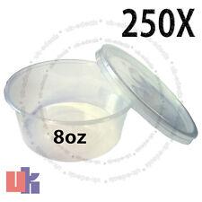 250 Recipientes para alimentos para bebés & Multi Uso de Almacenamiento Fuerte Redondo Ollas 8oz 120x30mm