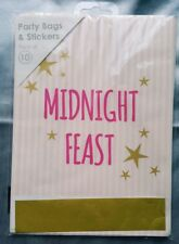 GIRLS SLEEPOVER PARTY BAG PACK OF 10 MIDNIGHT FEAST GIFT EMPTY PAPER PARTY BAG