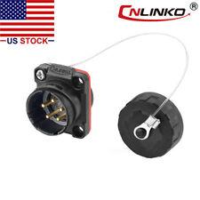 5 Pin Power Circular Connector Panel Mount Receptacles Male Socket Waterproof