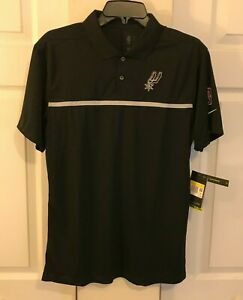 Nike San Antonio Spurs NBA Basketball Polo Shirt Black Men Small CN4120-010 New