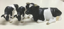 Rare Schleich Black and White Cow, Lying 13211 And Two Calves 13111