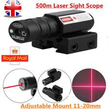 11&20mm Air Rifle Pistol Gun Hunting Scope Red Laser Dot Sight Shooting Mount