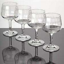 4 Weingläser Weißweingläser Zwiesel Glas ~ 60er Jahre Vintage Gläser Linien