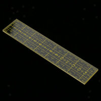 Quilting Template Patchwork Tailoring Measure Sewing Ruler 15cm Yellow