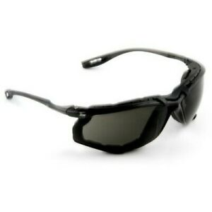 3M Virtua CCS Safety Glasses with Black Temples, Foam, Gray Anti-Fog Lenses