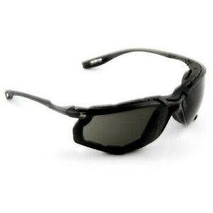 3M Virtua CCS Safety Glasses with Black Temples, Foam, Gray Anti-Fog Lenses