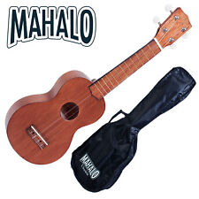 MAHALO Wooden Soprano Ukulele & Bag CHEAP POST! Kahiko Series MK1TBR