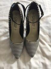 New Look Ladies Heels Black Stripe Shoes UK 3 / EUR 36
