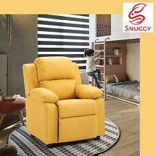 Kids Recliner PU Sofa Children Lounge Chair Couch Armchair Yellow