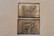 2 plaque décorative en argent 800