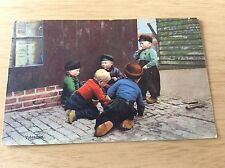 Netherlands VOLENDAM Old Color POSTCARD Little Dutch Boys at Play