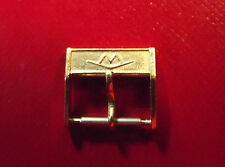 "MOVADO RARE VINTAGE - 14 mm  ""UNROC"" GOLD COLOR BUCKLE - FOR 18 BAND STRAP"