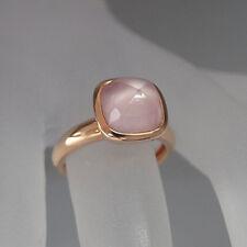 Moderner Ring mit ca. 2,00ct Rosenquarz und Perlmutt in 750/18K RG UVP. 1.920,-€