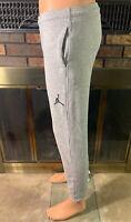 Nike Air Jordan Jumpman Flight Basketball Warmup Joggers Pants Youth Sz XL Gray