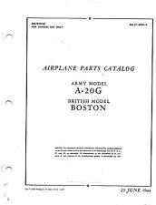 A-20G Aircraft Parts Catalog - World War II Book - Flight Manual - CD version