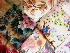 material remnants/offcuts/scraps - 8 floral designs