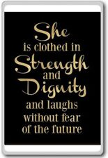 She Is Clothed With Strength And Dignity, And She Laughs Without Fear Of The ...