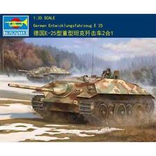 Trumpeter 00383 1/35 German E25 Tank Static Model Kit Die Cast Parts World War