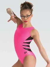 Gk Elite Pink Pop Gymnastics Leotard Child Small New With Tags