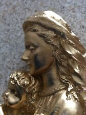 Mother And Child Garden Ornament Grave Memorial Statue/Home Decoration Gold