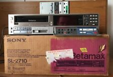 Vintage SONY BetaMax Stereo VCR SL-2710 Beta Hi-Fi With original Box Read!!!