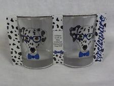 Canine Smart Circleware Dalmation Dog Double Old Fashion 2 Pc Glass Set NIP Nice