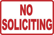 NO SOLICITING - SIGN- #PS-426