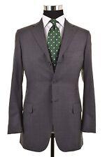 Belvest Gray Shadow Glen Plaid Super 180s Wool 2pc Suit Jacket Pants 46 36 S